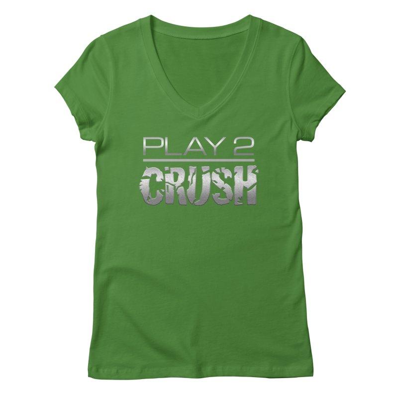 P2 Crush! Women's Regular V-Neck by Shirts by Noc