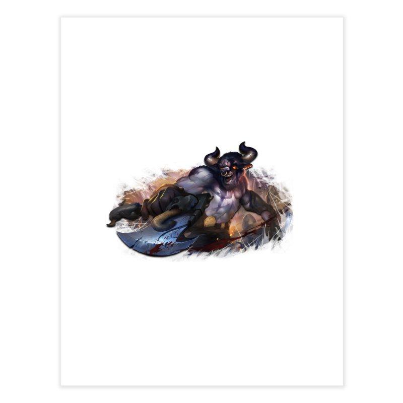 Ragin' Bull Home Fine Art Print by Shirts by Noc