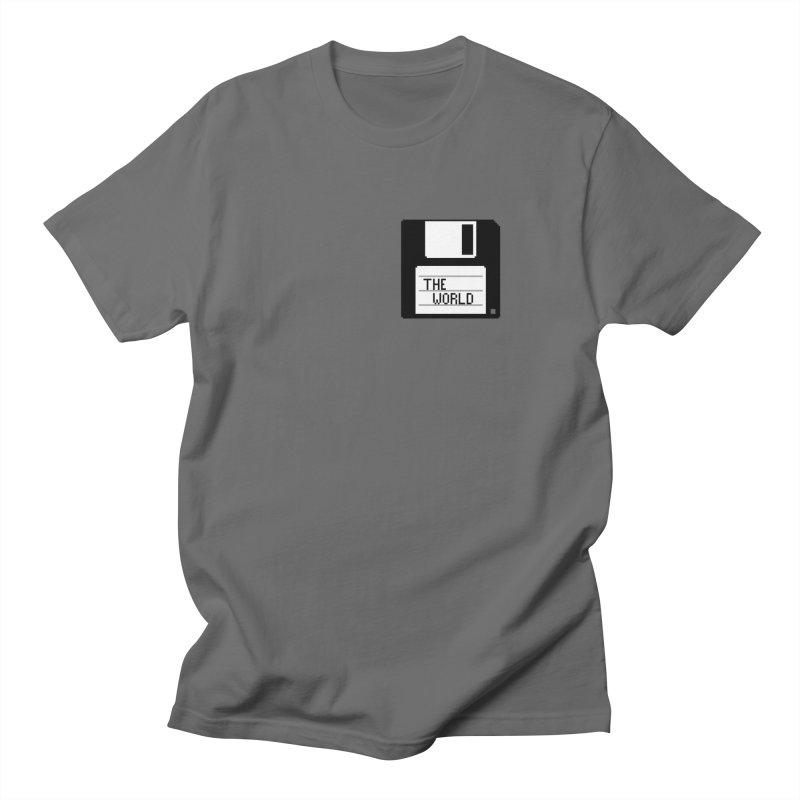 save_the_world Men's T-Shirt by Unprovable