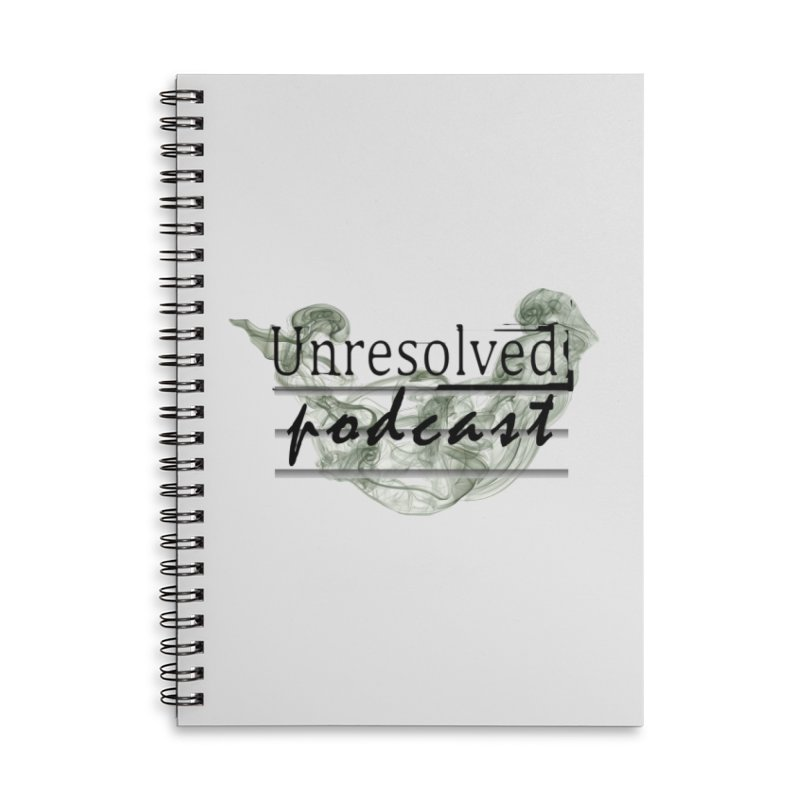Unresolved Podcast Accessories Lined Spiral Notebook by Unresolved Shop
