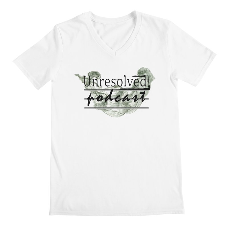 Unresolved Podcast Men's Regular V-Neck by Unresolved Shop