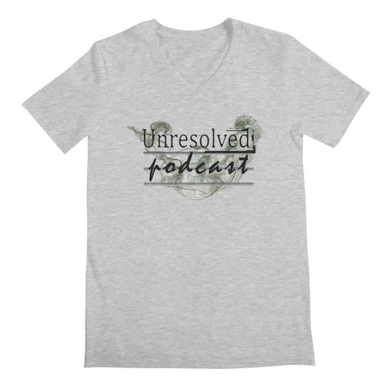 Unresolved Podcast Men's Regular V-Neck by Unresolved Shop