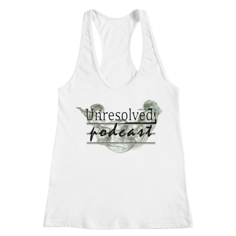 Unresolved Podcast Women's Racerback Tank by Unresolved Shop