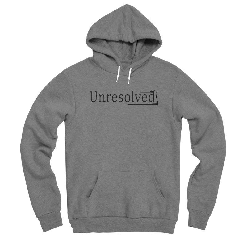 Unresolved (Black) Men's Sponge Fleece Pullover Hoody by Unresolved Shop
