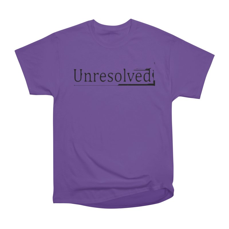 Unresolved (Black) Men's Heavyweight T-Shirt by Unresolved Shop