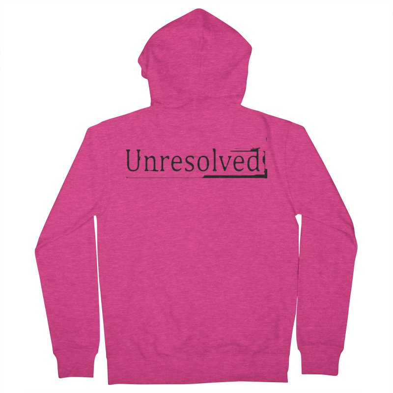 Unresolved (Black) Women's French Terry Zip-Up Hoody by Unresolved Shop