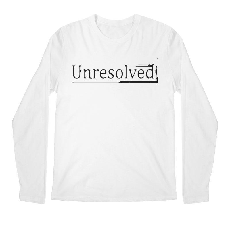 Unresolved (Black) Men's Regular Longsleeve T-Shirt by Unresolved Shop