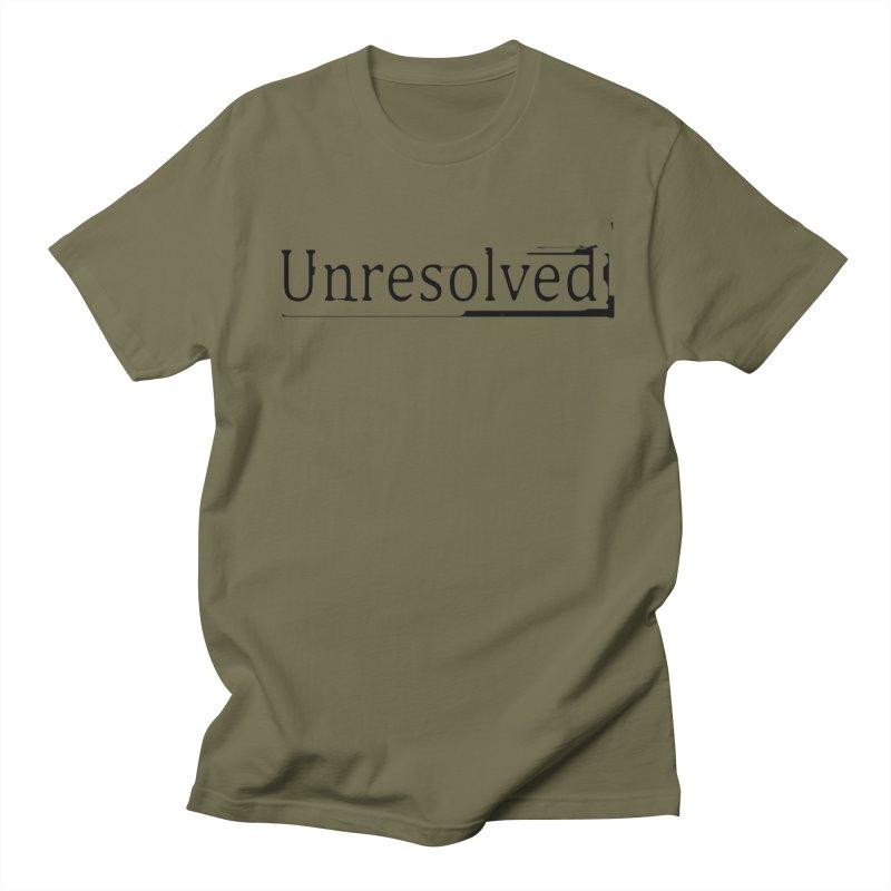 Unresolved (Black) Men's Regular T-Shirt by Unresolved Shop