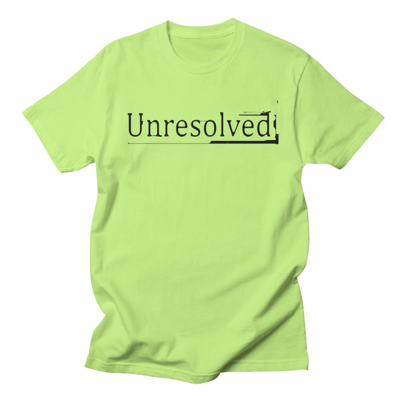 Unresolved (Black) Men's Regular T-Shirt by Unresolved Shop