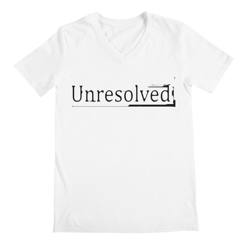 Unresolved (Black) Men's Regular V-Neck by Unresolved Shop