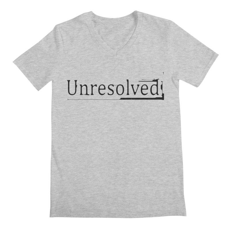 Unresolved (Black) Men's Regular V-Neck by Unresolved Shop