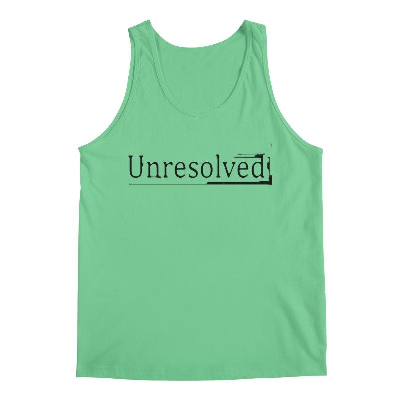 Unresolved (Black) Men's Regular Tank by Unresolved Shop