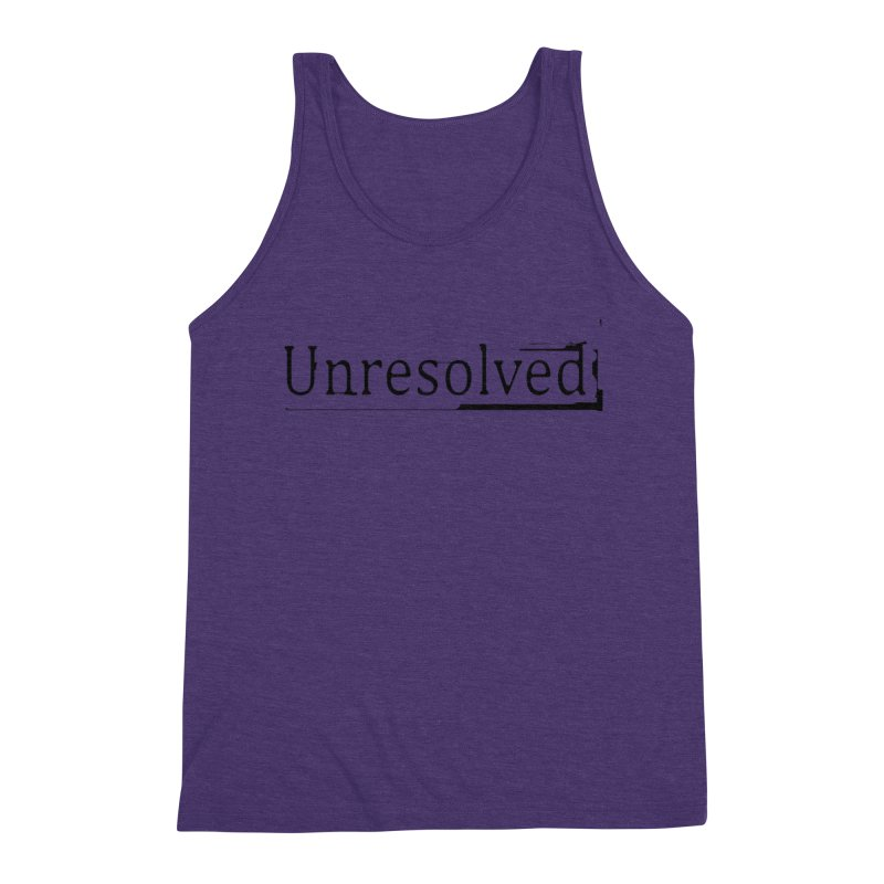 Unresolved (Black) Men's Triblend Tank by Unresolved Shop