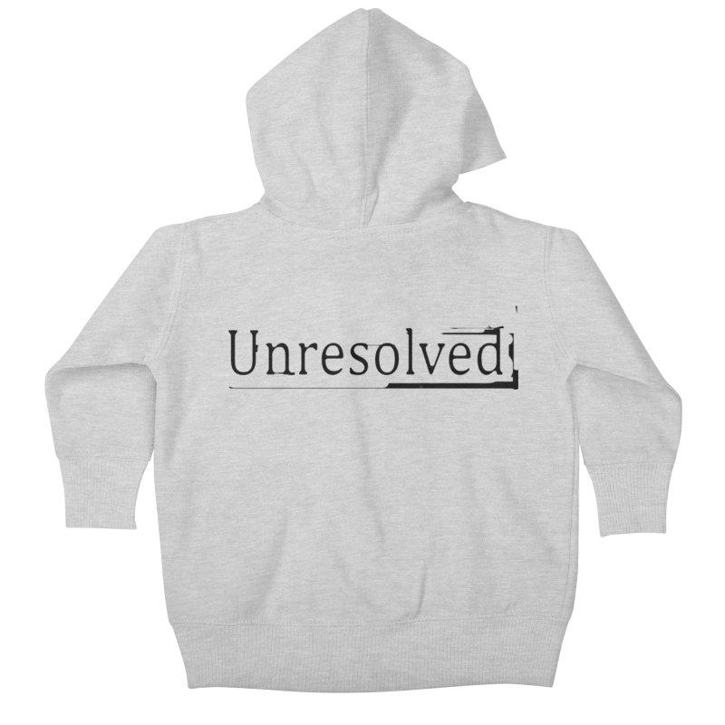 Unresolved (Black) Kids Baby Zip-Up Hoody by Unresolved Shop