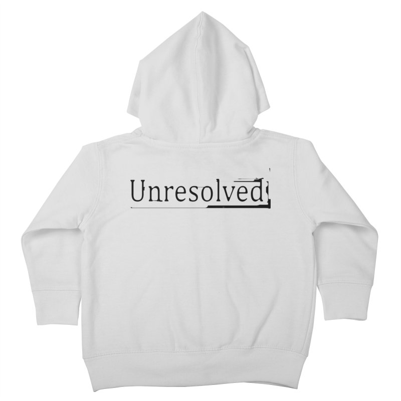 Unresolved (Black) Kids Toddler Zip-Up Hoody by Unresolved Shop