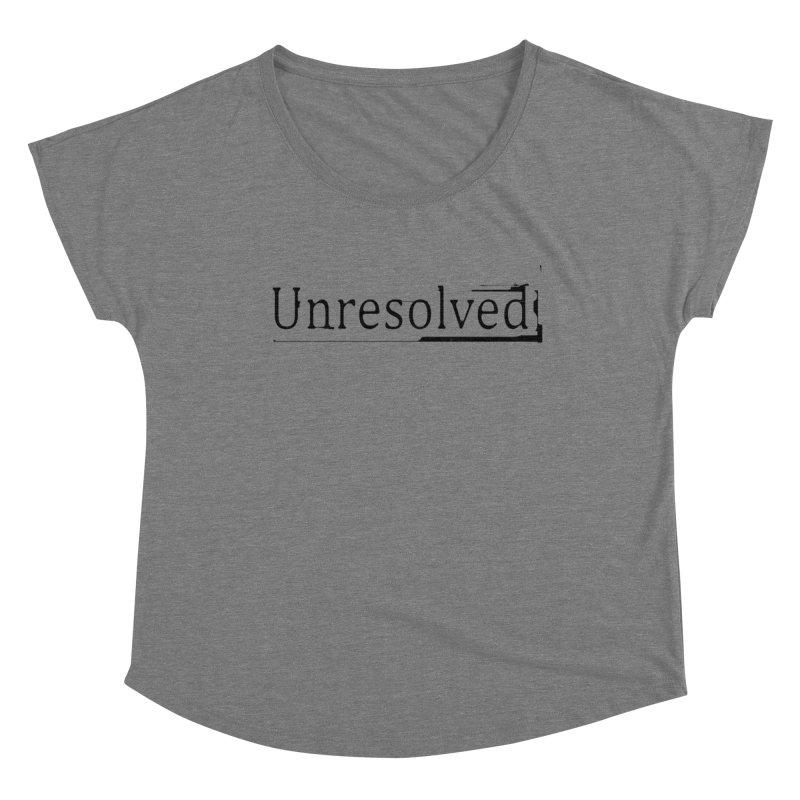 Unresolved (Black) Women's Scoop Neck by Unresolved Shop