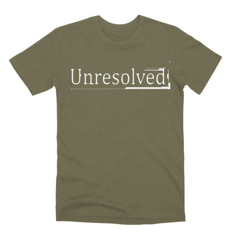 Unresolved (White) Men's Premium T-Shirt by Unresolved Shop