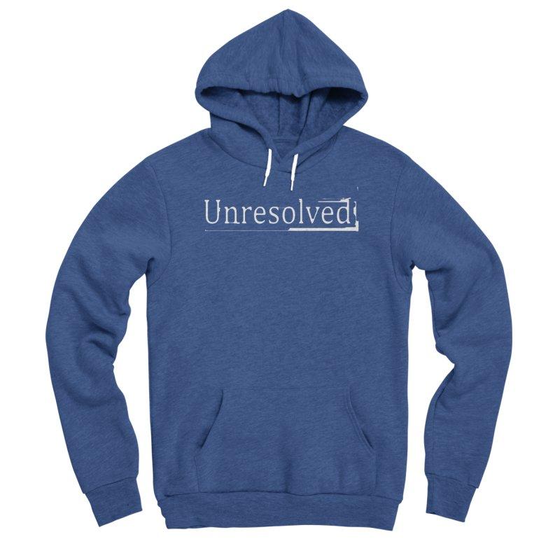 Unresolved (White) Men's Sponge Fleece Pullover Hoody by Unresolved Shop
