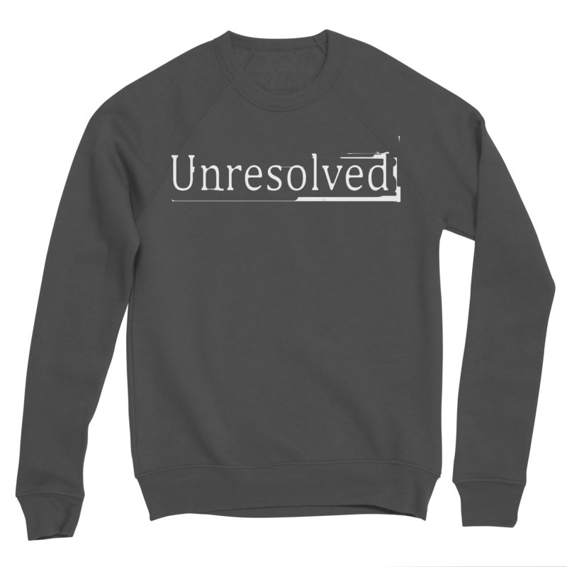 Unresolved (White) Men's Sponge Fleece Sweatshirt by Unresolved Shop
