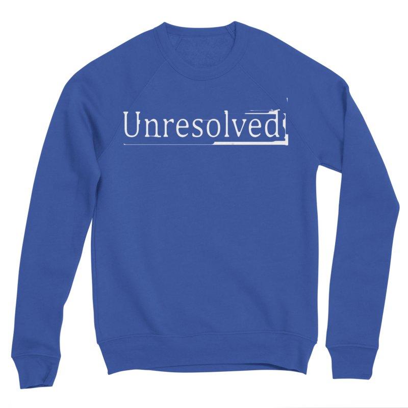 Unresolved (White) Women's Sponge Fleece Sweatshirt by Unresolved Shop