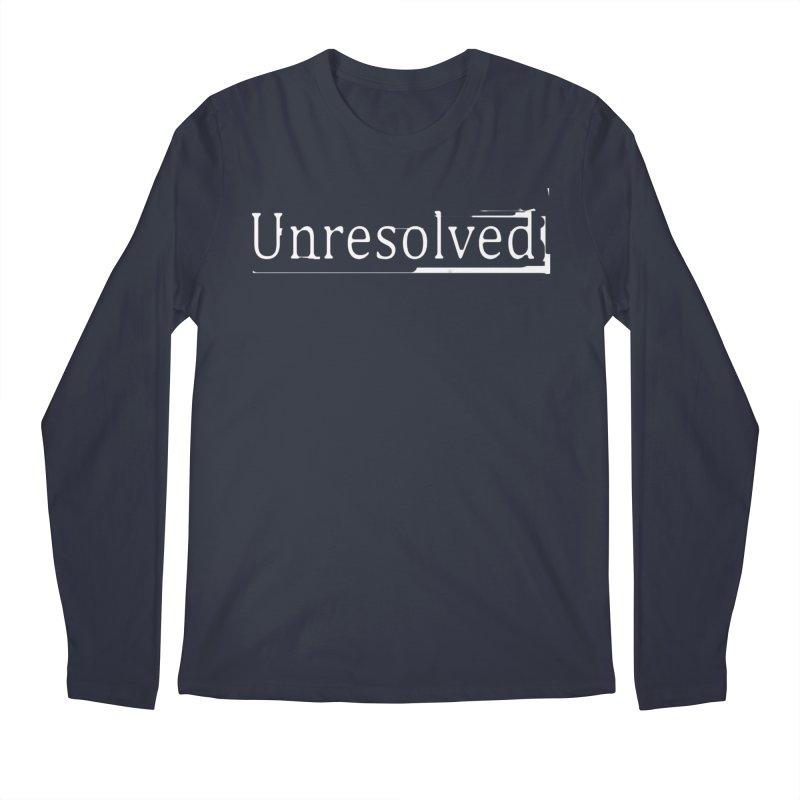 Unresolved (White) Men's Regular Longsleeve T-Shirt by Unresolved Shop