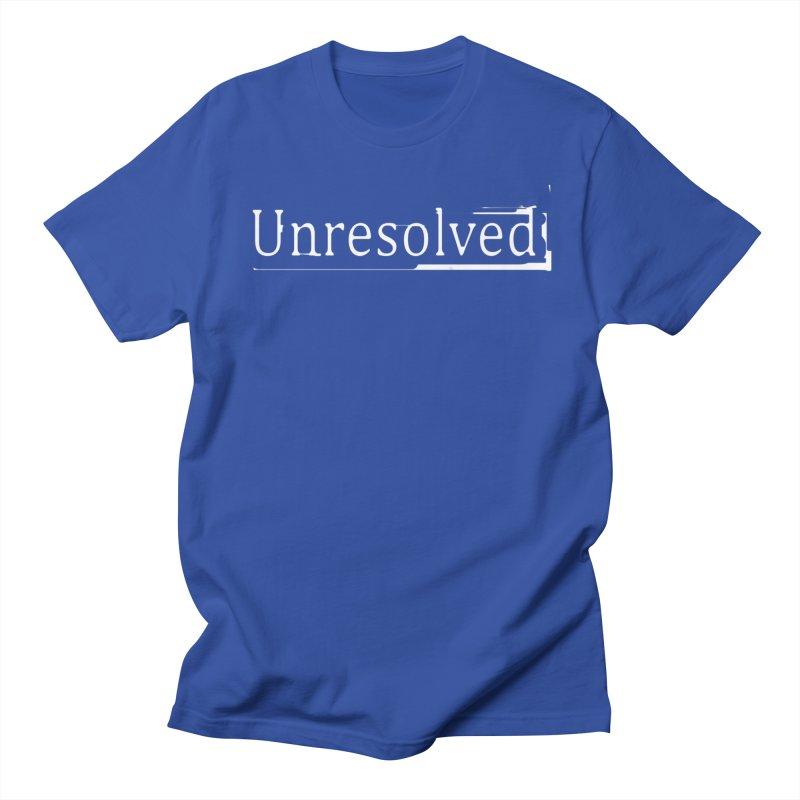 Unresolved (White) Men's Regular T-Shirt by Unresolved Shop