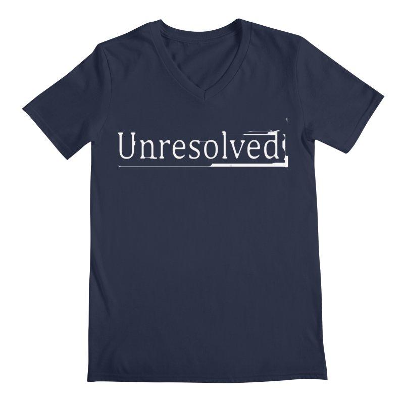 Unresolved (White) Men's Regular V-Neck by Unresolved Shop