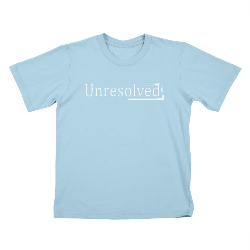 Unresolved (White) Kids T-Shirt by Unresolved Shop