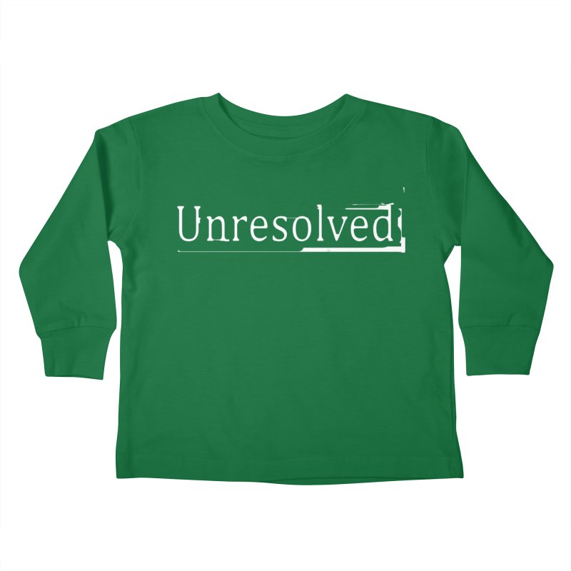Unresolved (White) Kids Toddler Longsleeve T-Shirt by Unresolved Shop
