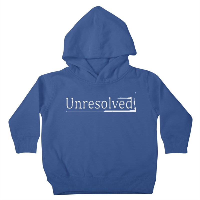 Unresolved (White) Kids Toddler Pullover Hoody by Unresolved Shop