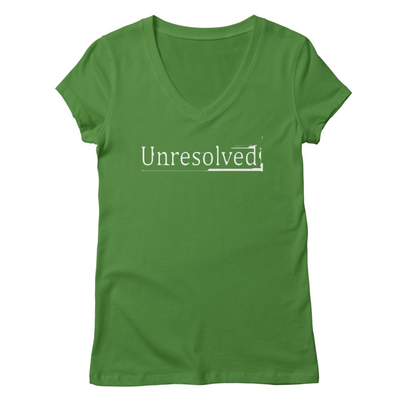 Unresolved (White) Women's Regular V-Neck by Unresolved Shop