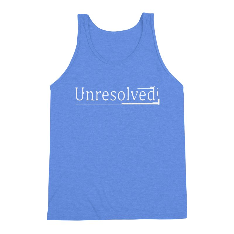 Unresolved (White) Men's Triblend Tank by Unresolved Shop