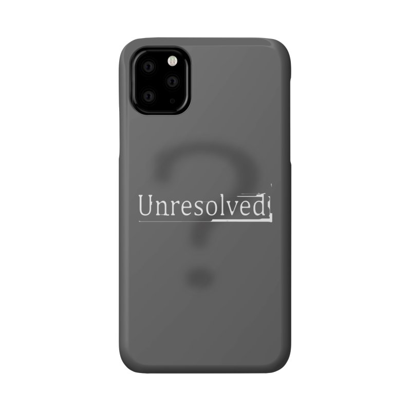 Question Mark (White) Accessories Phone Case by Unresolved Shop