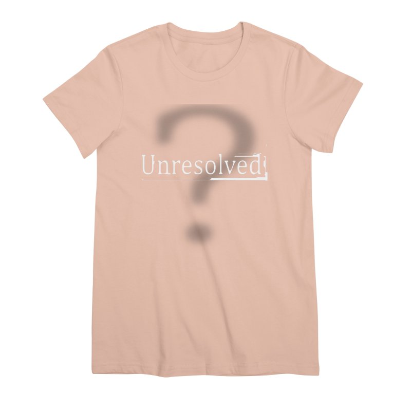 Question Mark (White) Women's Premium T-Shirt by Unresolved Shop