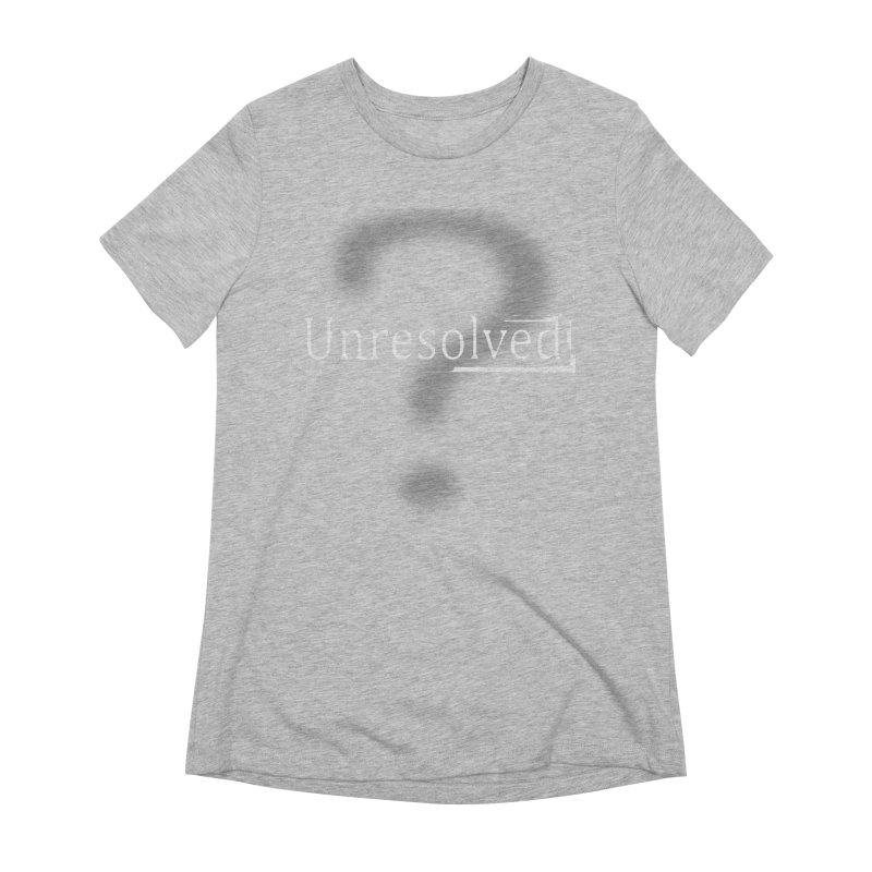 Question Mark (White) Women's Extra Soft T-Shirt by Unresolved Shop
