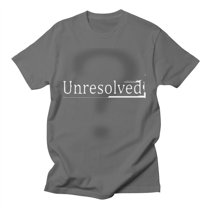Question Mark (White) Men's T-Shirt by Unresolved Shop