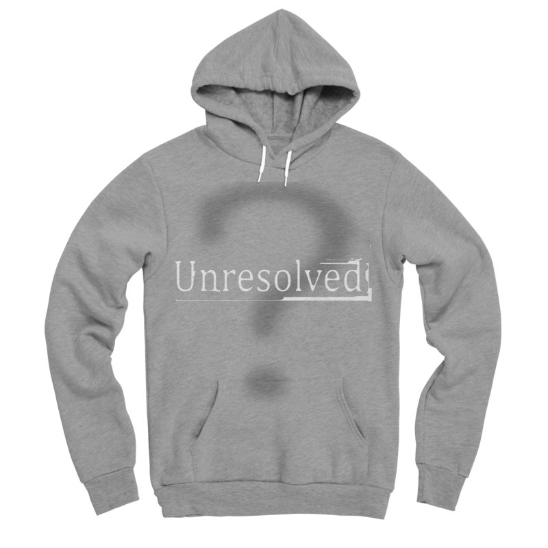 Question Mark (White) Men's Sponge Fleece Pullover Hoody by Unresolved Shop