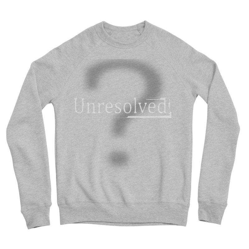 Question Mark (White) Men's Sponge Fleece Sweatshirt by Unresolved Shop