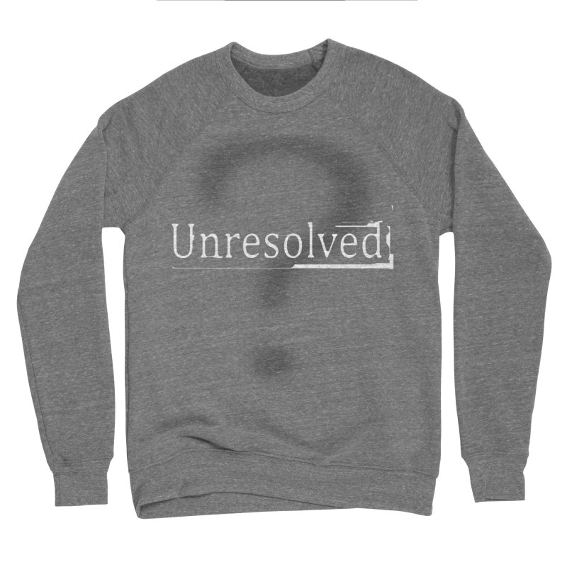 Question Mark (White) Men's Sponge Fleece Sweatshirt by Unresolved Shop