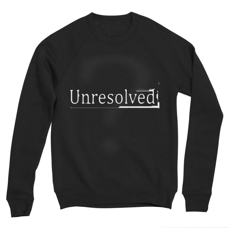 Question Mark (White) Women's Sponge Fleece Sweatshirt by Unresolved Shop