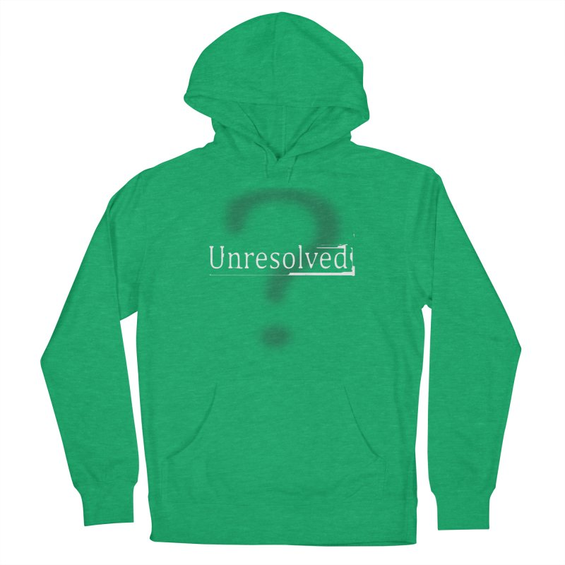 Question Mark (White) Men's French Terry Pullover Hoody by Unresolved Shop