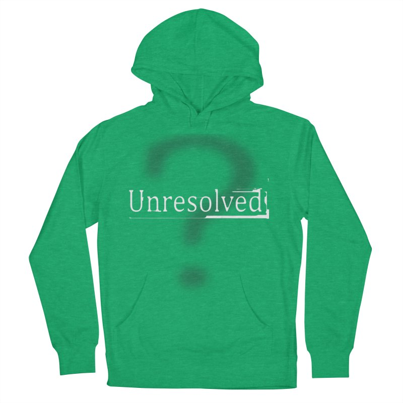 Question Mark (White) Women's French Terry Pullover Hoody by Unresolved Shop