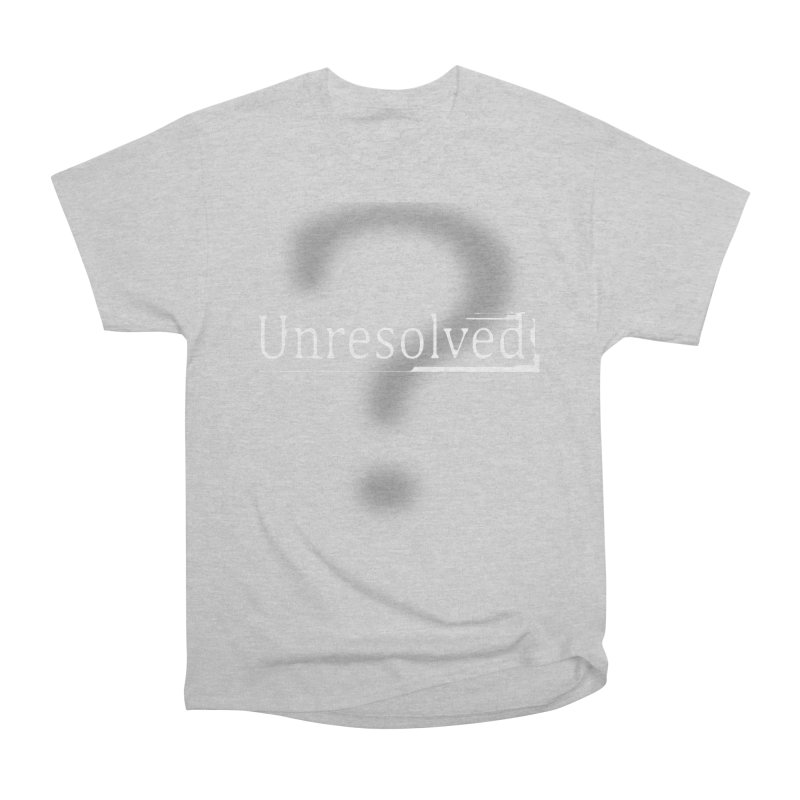 Question Mark (White) Women's Heavyweight Unisex T-Shirt by Unresolved Shop