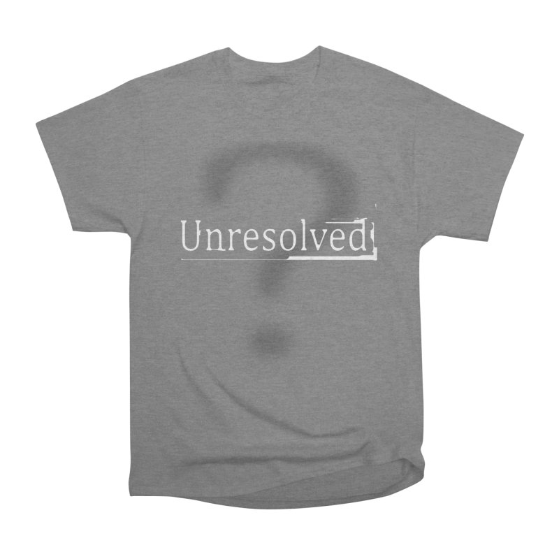 Question Mark (White) Men's Heavyweight T-Shirt by Unresolved Shop