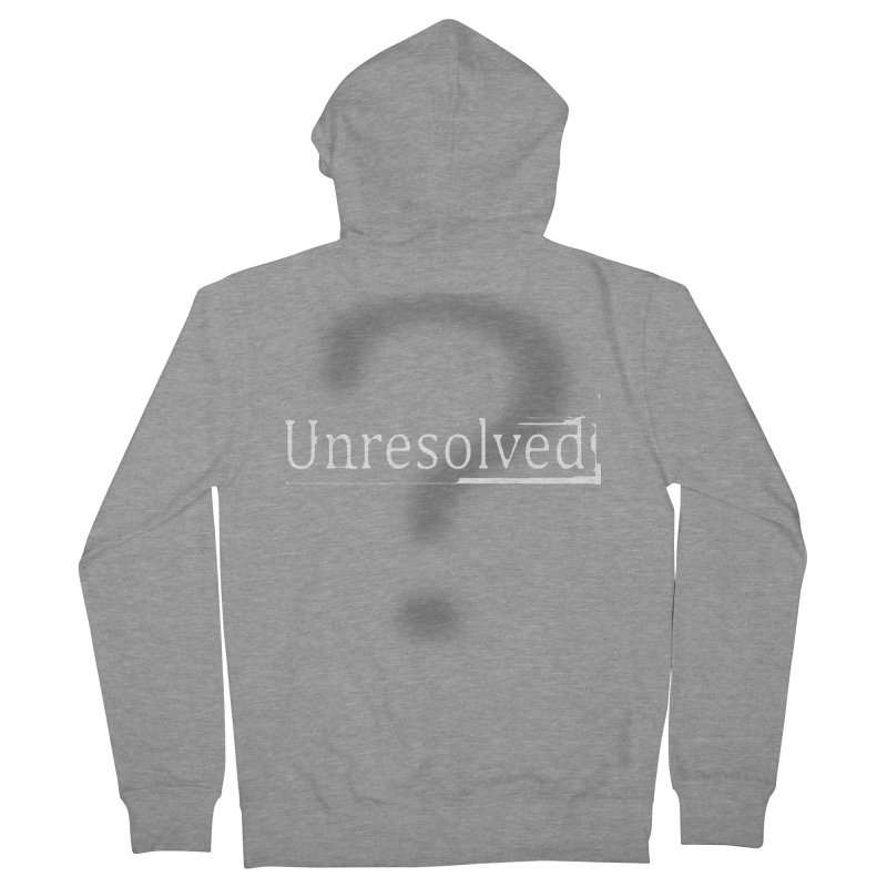 Question Mark (White) Women's French Terry Zip-Up Hoody by Unresolved Shop