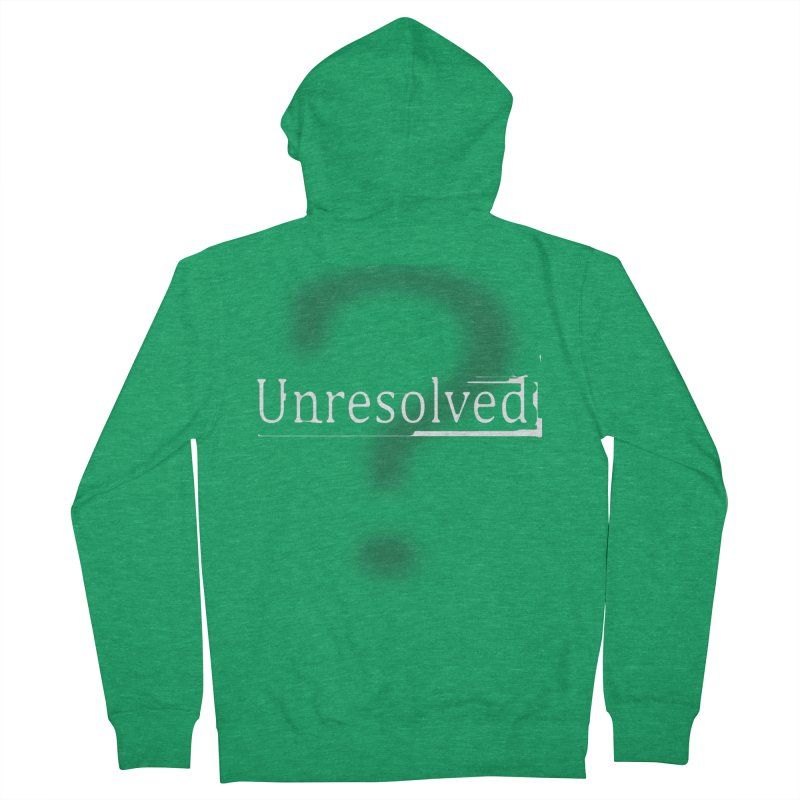 Question Mark (White) Men's Zip-Up Hoody by Unresolved Shop