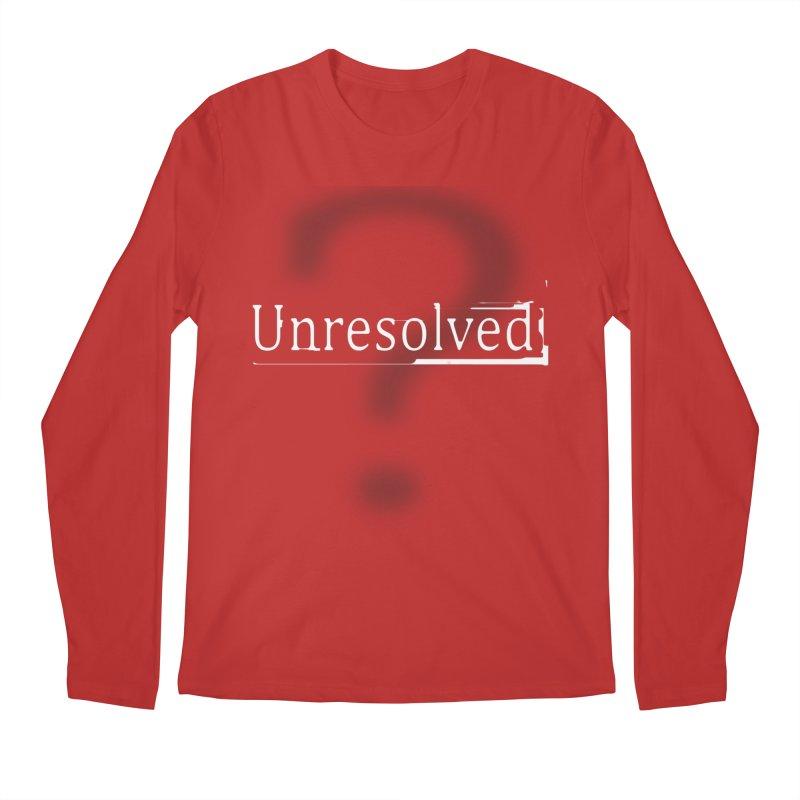Question Mark (White) Men's Regular Longsleeve T-Shirt by Unresolved Shop