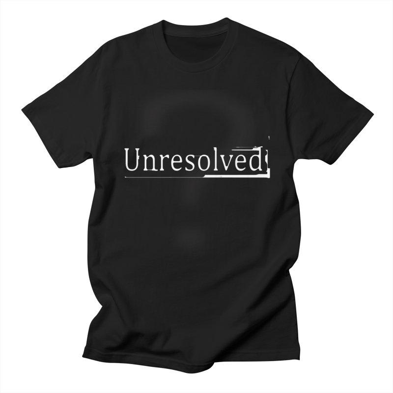Question Mark (White) Women's Regular Unisex T-Shirt by Unresolved Shop