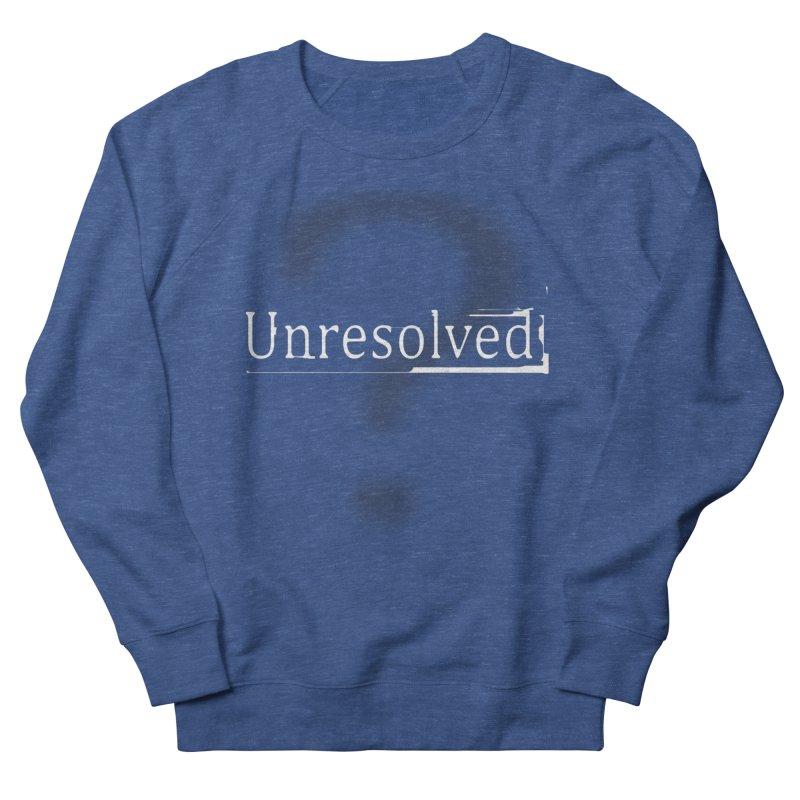 Question Mark (White) Men's Sweatshirt by Unresolved Shop
