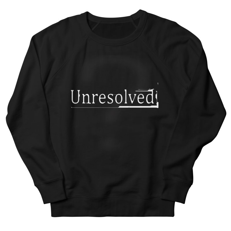 Question Mark (White) Men's French Terry Sweatshirt by Unresolved Shop